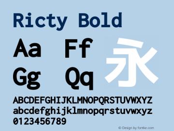 Ricty Bold Version 3.2.4b图片样张