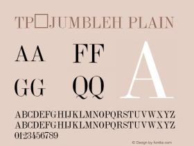 TP_JumbleH Plain Altsys Fontographer 3.3  9/14/91图片样张