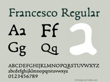 Francesco Regular Version 001.901图片样张