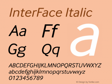 InterFace Italic Version 2.000图片样张