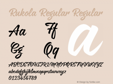 Rukola Regular Regular Version 1.000;com.myfonts.easy.nikola-giacintova.rukola.regular.wfkit2.version.4cuo Font Sample