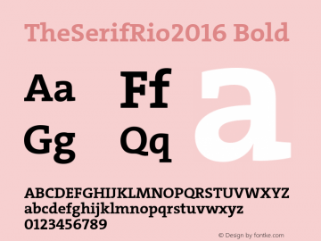 TheSerifRio2016 Bold Version 1.004 Font Sample