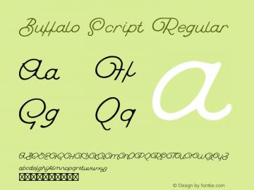 Buffalo Script Regular Version 1.000;PS 001.000;hotconv 1.0.70;makeotf.lib2.5.58329 Font Sample