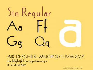Sin Regular Version 3.50 Font Sample