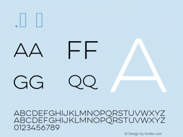 .  Version 1.000 Font Sample