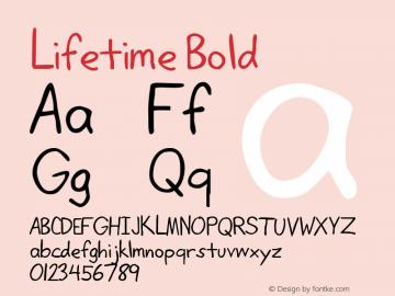 Lifetime Bold Rev. 003.000 Font Sample