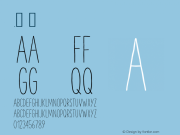.  3.000 Font Sample