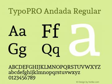 TypoPRO Andada Regular Version 1.003图片样张