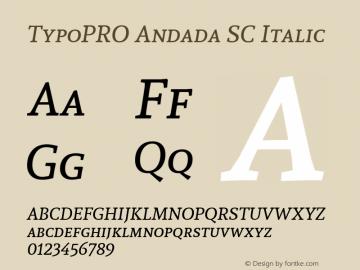 TypoPRO Andada SC Italic Version 1.003图片样张