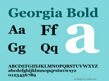 Georgia Bold Version 5.58图片样张