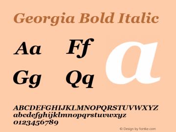 Georgia Bold Italic Version 5.58图片样张