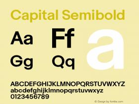 Capital Semibold Version 2.001图片样张