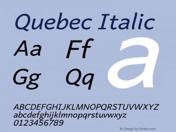 Quebec Italic Version 5.500图片样张
