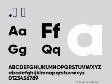 .  Version 1.000;PS 001.000;hotconv 1.0.88;makeotf.lib2.5.64775 Font Sample