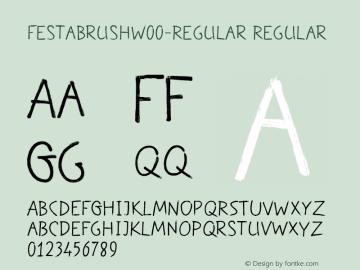 FestaBrushW00-Regular Regular Version 1.00图片样张