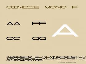 Cindie Mono F Version 1.000图片样张