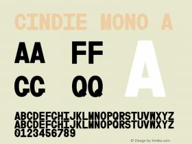 Cindie Mono A Version 1.000图片样张