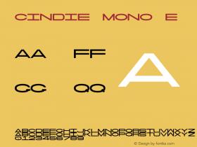 Cindie Mono E Version 1.000图片样张