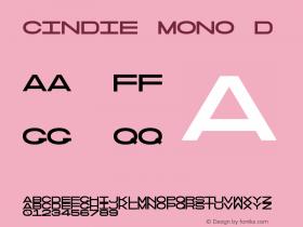 Cindie Mono D Version 1.000图片样张
