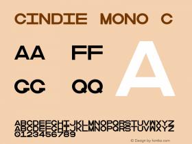 Cindie Mono C Version 1.000图片样张