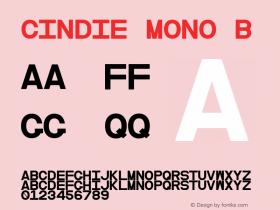 Cindie Mono B Version 1.000图片样张