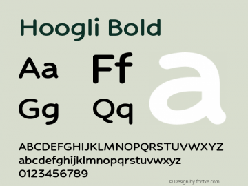 Hoogli Bold Version 1.00 b007图片样张