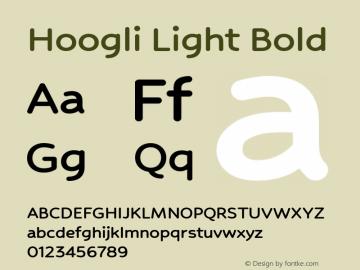 Hoogli Light Bold Version 1.00 b004 Font Sample