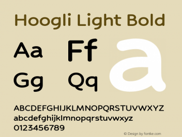 Hoogli Light Bold Version 1.00 b003 BETA Font Sample