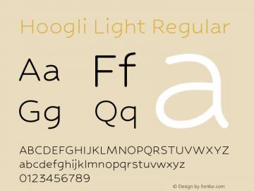 Hoogli Light Regular Version 1.00 b004 Font Sample