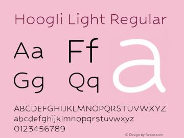 Hoogli Light Regular Version 1.00 b006 Font Sample