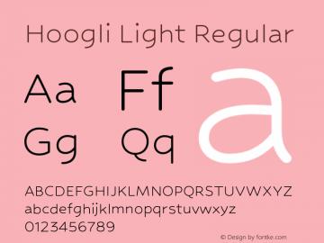 Hoogli Light Regular Version 1.00 b005 Font Sample