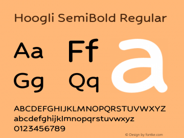 Hoogli SemiBold Regular Version 1.000;PS 001.000;hotconv 1.0.88;makeotf.lib2.5.64775图片样张