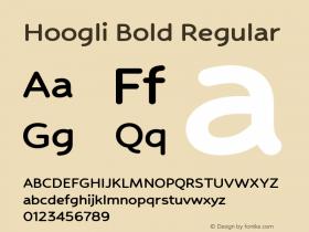 Hoogli Bold Regular Version 1.000;PS 1.0;hotconv 1.0.88;makeotf.lib2.5.647800 DEVELOPMENT图片样张