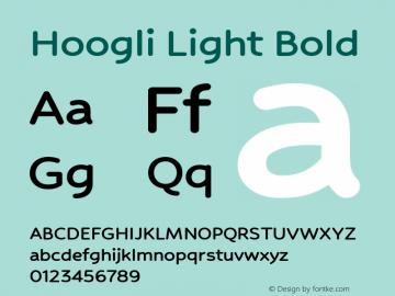 Hoogli Light Bold Version 1.00 b005图片样张