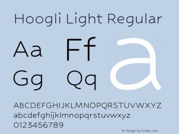 Hoogli Light Regular Version 1.000;PS 001.000;hotconv 1.0.88;makeotf.lib2.5.64775图片样张