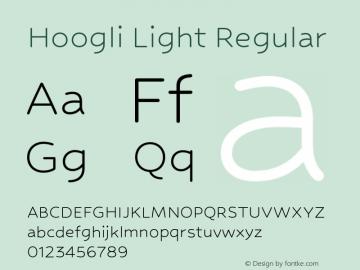 Hoogli Light Regular Version 1.00 b003 BETA Font Sample