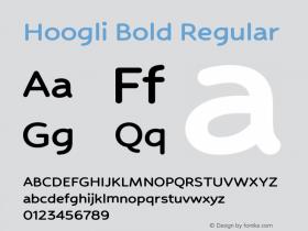 Hoogli Bold Regular Version 1.000;PS 001.000;hotconv 1.0.88;makeotf.lib2.5.64775图片样张