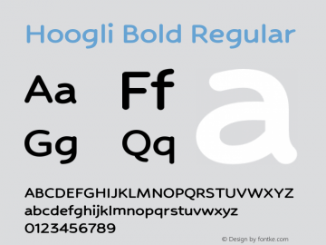 Hoogli Bold Regular Version 1.000;PS 001.000;hotconv 1.0.88;makeotf.lib2.5.64775 Font Sample