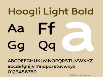 Hoogli Light Bold Version 1.00 b001 BETA图片样张