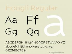 Hoogli Regular Version 1.00 b007图片样张