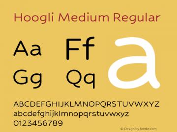 Hoogli Medium Regular Version 1.000;PS 1.0;hotconv 1.0.88;makeotf.lib2.5.647800 DEVELOPMENT图片样张