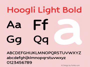 Hoogli Light Bold Version 1.00 b006图片样张