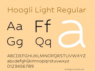 Hoogli Light Regular Version 1.00 b007 Font Sample