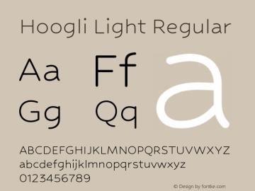 Hoogli Light Regular Version 1.00 b001 BETA Font Sample