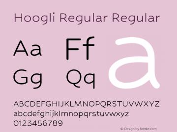 Hoogli Regular Regular Version 1.000;PS 1.0;hotconv 1.0.88;makeotf.lib2.5.647800 DEVELOPMENT图片样张