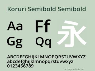 Koruri Semibold Semibold Koruri-20141224 Font Sample