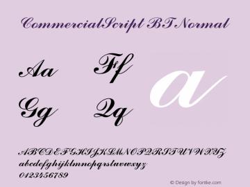 CommercialScript BT Normal 1.0 Wed Apr 17 14:51:50 1996图片样张