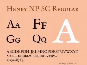 Henry NP SC Regular Version 002.000 Font Sample