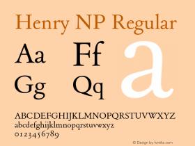 Henry NP Regular Version 002.000 Font Sample