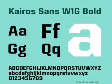 Kairos Sans W1G Bold Version 1.00 Font Sample
